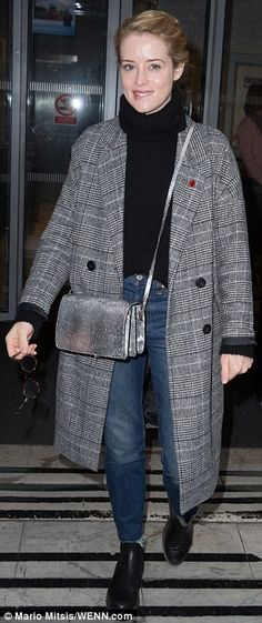 Royal arrival: Matt Smith and Claire Foy arrived at the BBC Radio 2 studios on Friday morning to chat to host Chris Evans about new Netflix series, The Crown Clare Foy, Little Dorrit, Expensive Clothes, Friday Morning, Female Actresses, Bbc Radio, Matt Smith, Netflix Series, Celebrity Look