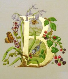 Josie Brown, Calligraphy ~ Heraldry ~ Illumination: http://www.josiebrown.co.uk/gallery/gilding/gilding.html (via Indré Rockefeller, Monograms & Embroidery)