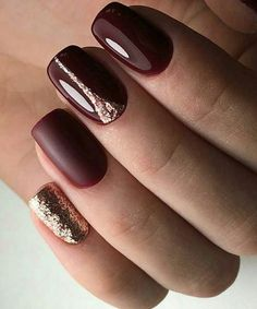 Attractive Matte and Glitter Nail Art Designs to Look Awesome on Wedding #GlitterNails