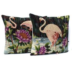 £75 PAIR Art Deco French Vintage Needlepoint FLAMINGO Tapestryhttps://www.etsy.com/your/shops/me/dashboard