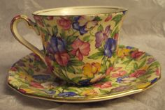 Royal Winton chintz teacup and saucer in by AuntieJunesAntiques, $75.00