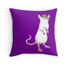 Himalayan rat throw pillow