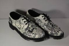 a4e2fbcbd6f NEW Dr Martens Women s  AndyWarhol  PopArt  Punk  Comic Oxford Shoes 1461  Size 8  DrMartens  Oxfords