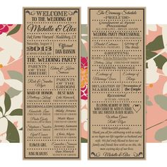Printable Digital Wedding Program  Vintage by LadybugPixels, $40.00