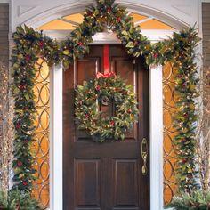 Pre-lit Woodland Christmas Greenery Collection #Holiday #Christmas #Home #Interior #Design #Decor ༺༺  ❤ ℭƘ ༻༻