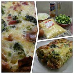 Bij San aan tafel: Hartige taart van croissant-deeg met broccoli, spek en ui