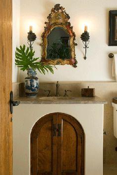 Spanish Colonial powder room / rob marett