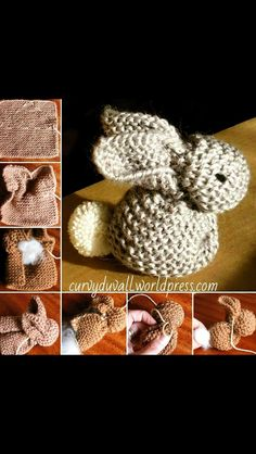 How To Knit An Easter Bunny easter diy knit diy ideas knitting knitting crafts easter crafts easter bunny easter gifts Knitted Bunnies, Knitted Animals, Knitting Patterns Free, Baby Knitting, Crochet Patterns, Crochet Bunny, Knit Or Crochet, Crochet Rabbit Free Pattern, Knitting Projects