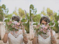 unique wedding portraits - photo by Day 7 Photography http://ruffledblog.com/metallic-garden-wedding-inspiration/