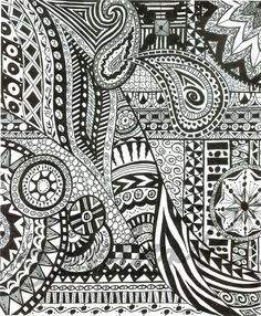 Huberart on etsy Love Zentangle! Zentangle Drawings, Doodles Zentangles, Zentangle Patterns, Doodle Drawings, Easy Doodle Art, Doodle Art Designs, Zen Doodle, Doodle Art Posters, Doodle Art Journals
