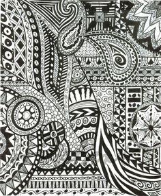 Huberart on etsy Love Zentangle! Easy Doodle Art, Doodle Art Designs, Zen Doodle, Tangle Doodle, Zentangle Drawings, Doodles Zentangles, Zentangle Patterns, Doodle Drawings, Doodle Art Posters