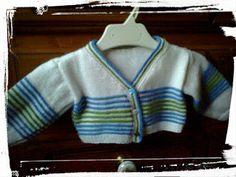 mi mama también teje: Chaqueta de rayas para bebés modernos