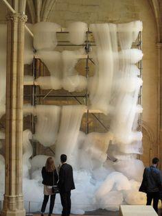 ephemeral installations by Michel Blazy