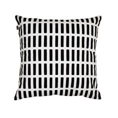 Siena Cotton Pillow Cover by Alvar Aalto for Artek Modern Cushion Covers, White Cushion Covers, Modern Cushions, Alvar Aalto, Siena, Marimekko, Black And White Cushions, Black White, Black Pillows