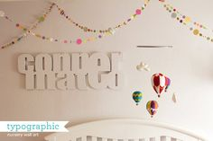 Nursery: typographic baby name wall-art | How Joyful