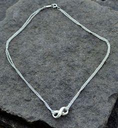 """FOR SALE - $125. Tiffany & Co. Sterling Silver Infinity - Figure 8 Pendant - Double Chain Necklace 16"""". Call 704-277-4060 or visit FoundationJewelry on Etsy"""