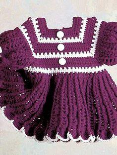Crochet: Free Baby Dress Pattern.
