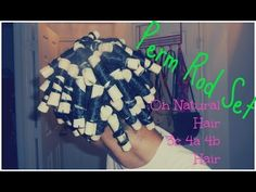 Perm Rods w/Curls Unleashed On Natural Hair - YouTube