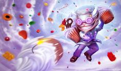 League of Legends - Sweet Tooth Ziggs by =tanathe on deviantART
