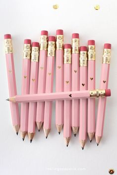 Pink pencil For taking notes, writing to do lists, or crafting love notes.