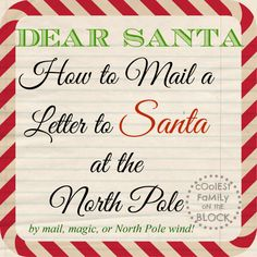 How to mail a letter to Santa at the North Pole