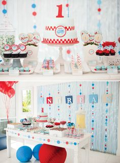 Modern Little Blue Truck First Birthday Party