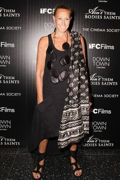 Donna Karan took in the Ain't Them Bodies Saints screening with The CInema Society and Calvin Klein.