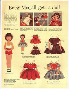 Cottage Sunshine: Betsy McCall Paper Dolls