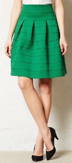 #green ponte bell skirt http://rstyle.me/n/mc8sdr9te