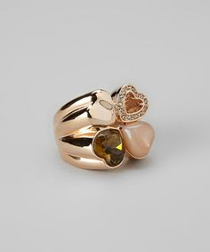 Take a look at this Rose Gold Quadruple Heart Ring by Amabel Designs on #zulily today!