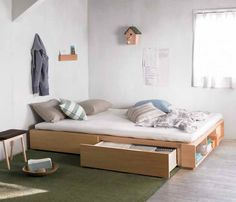 bed with drawers!