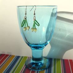 Earrings with yellow cherries with silver coloured by SaijaSkills, €7.00