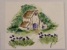 OLD-BARN. Sold separately are the flowers & grass that are used in the examples. Made by Art Impressions. All can be found in my ebay store & Can be purchased in my ebay Store Pat's Rubber Stamps & Scrapbooks, click on the picture to see it, or call me 423-357-4334 with order, or come by 1327 Glenmar Ave. Mt Carmel, TN 37645, Pat's Rubber Stamps & Scrapbook supplies 423-357-4334. We take PayPal. You get free shipping with the phone orders of $30.00 or more. Use my search engine to find them