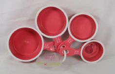 Set of 4 Asst Size Flexi Tools Silicone Push Out Measuring Cups by Focus Products Group LLC. $4.99. Set includes 1, 1/2, 1/3, 1/4 cup sizesEasily push out packed ingredientsSoft feel handle and sure gripTop rack dishwasher safeAmco Houseworks model#8714R. Save 50% Off!