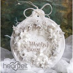 Heartfelt Creations - White Christmas Bauble Card Project