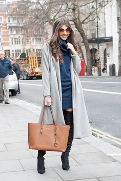 90 Street Style Outfits You Have to See From London Fashion Week Winter Mode Outfits, Winter Outfits Women, Winter Fashion Outfits, Autumn Winter Fashion, Fashion 2015, Street Fashion, Autumn Street Style, Casual Street Style, Street Style Looks