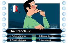 Illustration by Luis Grañena of misconceptions about France