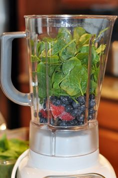 Getting greens into kids' diets...gray smootie