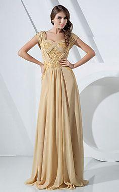 Sheath/Column Off-the-shoulder Floor-length Chiffon Evening Dress