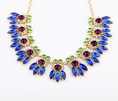 Ablaze Artificial Crystal Chain Necklace  - New In