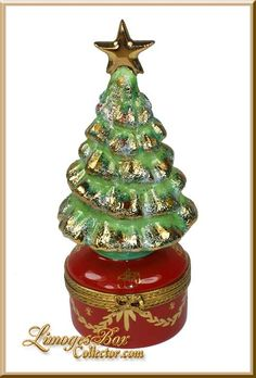 LiMoGeS CHRiSTMaS TRee oN ReD BaSe BoX ____Beauchamp