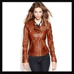 Guess asymmetrical zip leather jacket Gorgeous new leather jacket. This jacket is sold out online and is beautiful soft leather. The perfect staple piece. Guess Jackets & Coats