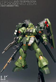 MG 1/100 Geara Doga [Heavy Armament Type] - Custom Build - Gundam Kits Collection News and Reviews