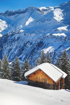 Winter in The Alps ~ Tschingelhörner, Switzerland