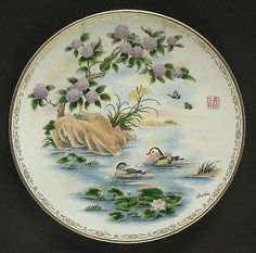 'Happiness' Plate, Boehm, Life's Best Wishes Series