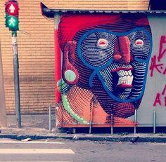 Street art | Mural (São Paulo, Brazil, 2014) by Nunca