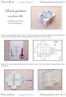 Ricamar Gioielli: TUTORIAL Scatola quadrata con fiocco blu (Template Box Gift)