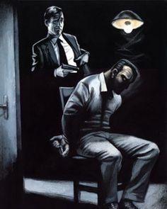 """Ilustración de Fernando Vicente para """"Voces para un blues negro"""", la primera novela negra colectiva"""