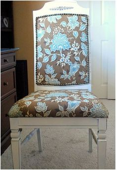 This dusty old chair was sitting at the local thrift store with a $3 price tag. I gave her a makeover, and bibbity bobbity boo, now she's Belle of the Ball. Or at least, the belle of my office. Before and After: If you don't have a handy magic wand, then gather these supplies: Fabric …