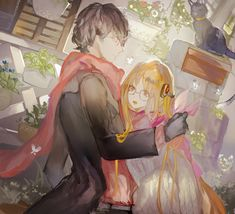 """whentheyart: """" 路地裏デート by おり ※Permission to reprint this was given by the artist. Please do not repost without the artist's permission. If you liked this fanwork, do take the time to rate and bookmark the original work. """""""